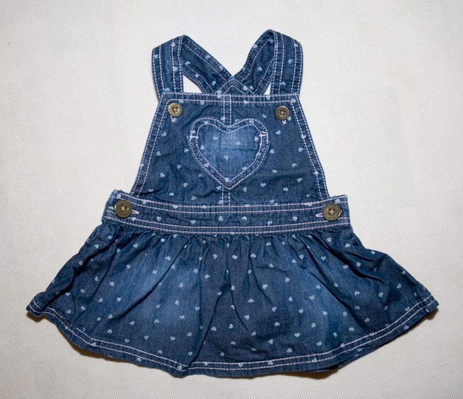 F&F Sukienka Dżinsowa Jeans Rozmiar 62 cm