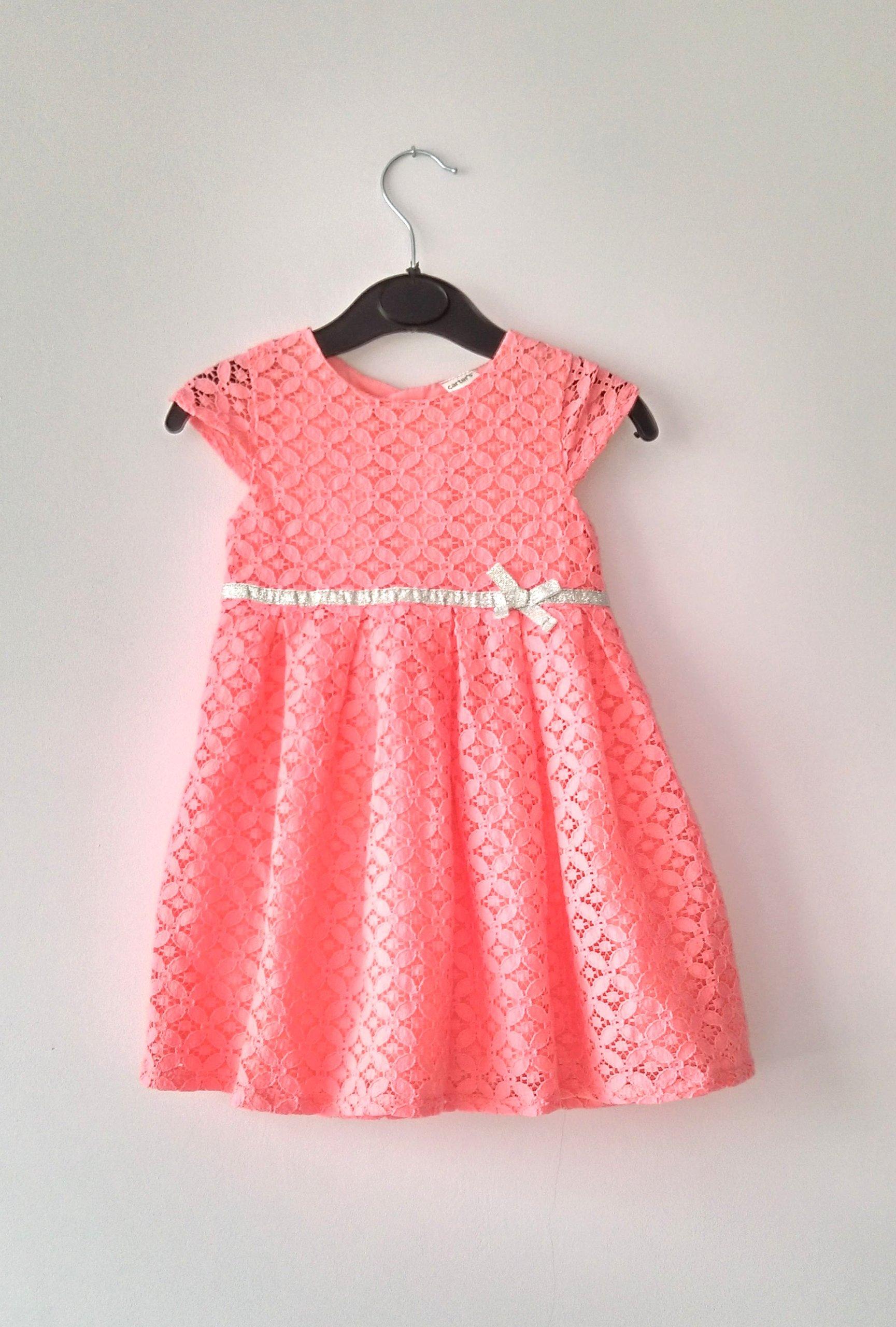 05052bddbf CARTERS neonowa sukienka koronka 86 - 7298512226 - oficjalne ...