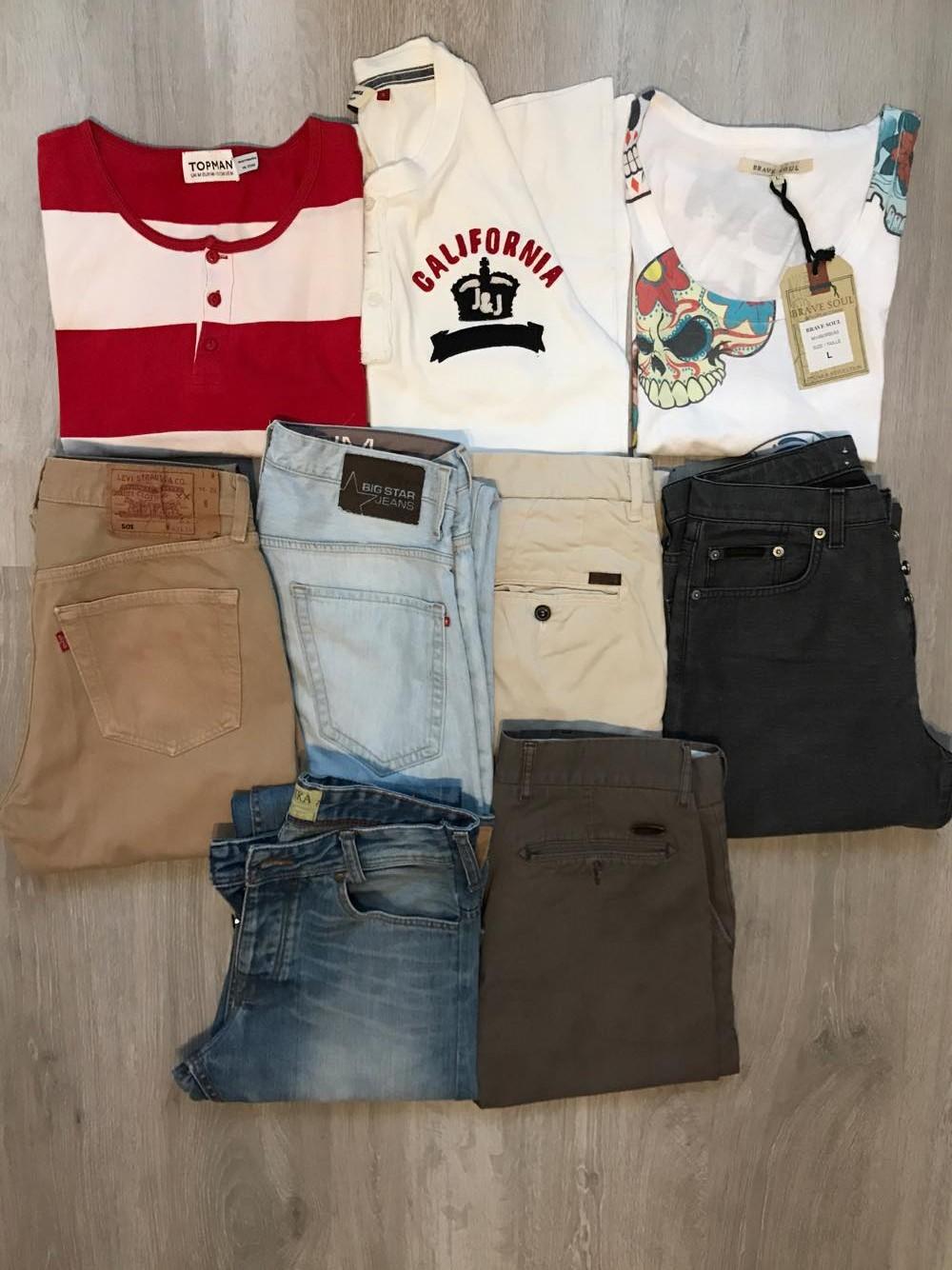 paka Ubrań T-shirt Jeans Calvin Levis Armani S M L
