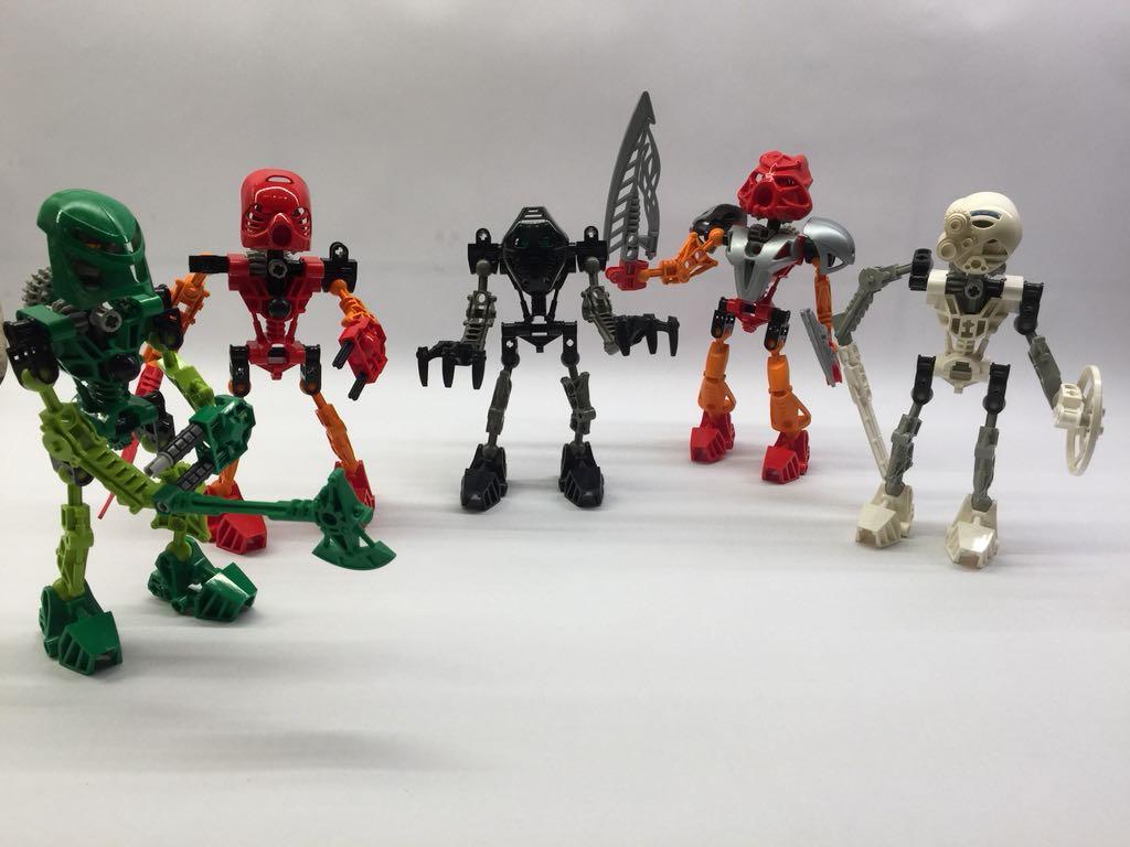 Klocki Lego Bionicle Zestaw 5 Bohaterów 7095773397 Oficjalne