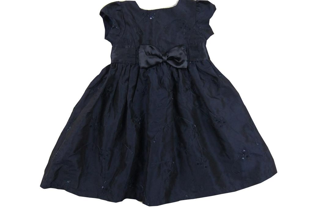Granatowa okolicznościowa sukienka 80cm idealna
