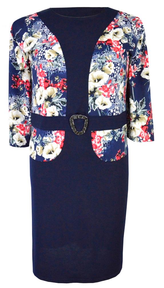 1792dddd8 ELEGANCKA sukienka 2w1 KWIATY (r. 58) WESELE -10% - 7364462940 ...