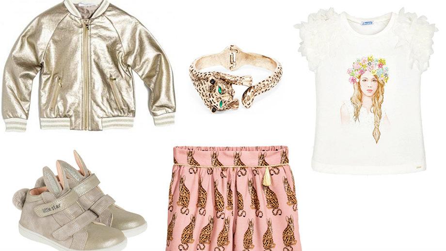 Złota blask – stylizacje glamour dla dziewczynki