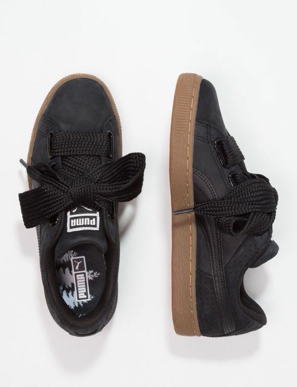 Puma basket heart czarny 36 kokarda buty sportowe