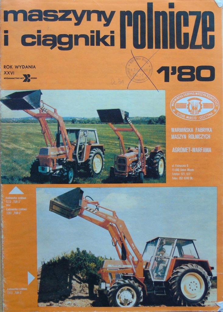 Maszyny I Ciagniki Rolnicze 1980 Rocznik Komplet 7177859399 Oficjalne Archiwum Allegro