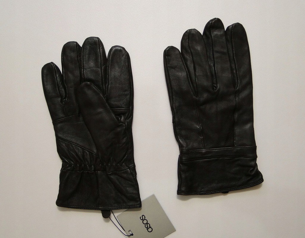 Rękawiczki ASOS Skórzane Ocieplane England Leather