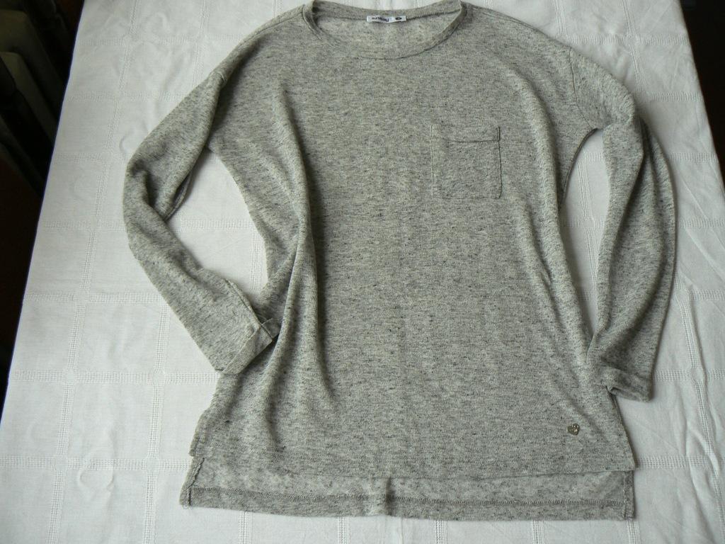 Bluza Sinsay Xs cienka, szara w różyczki nowa