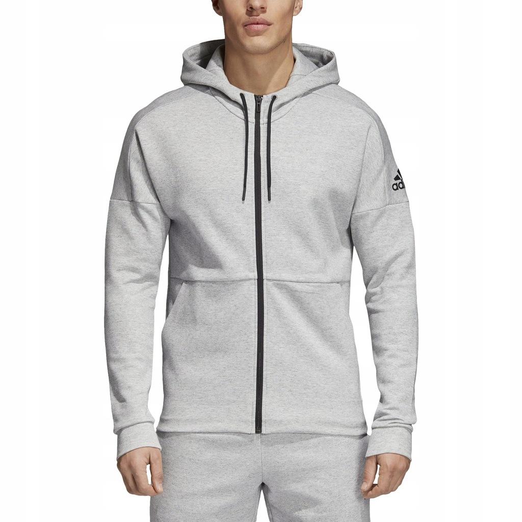 Bluza męska adidas ID Stadium DU1138   odcienie szarego