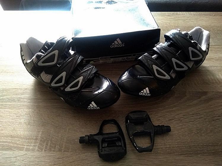 Buty Adidas Vueltano roz. 44 2/3.+pedała SPD+bloki
