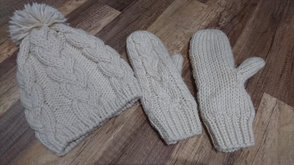 H&M zestaw czapka i rękawiczki