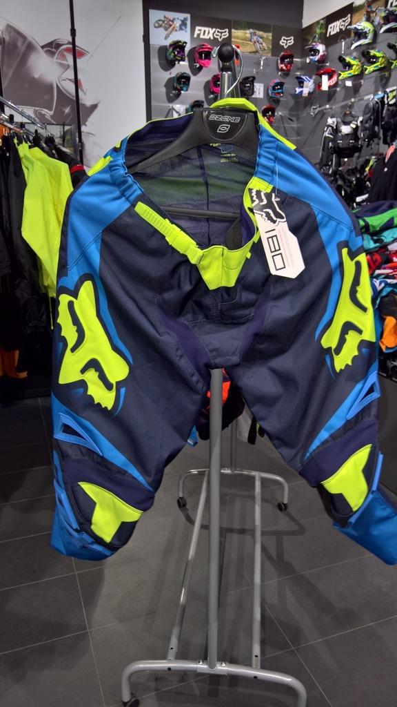Spodnie Fox 180 Race Blue/Yellow roz. 32