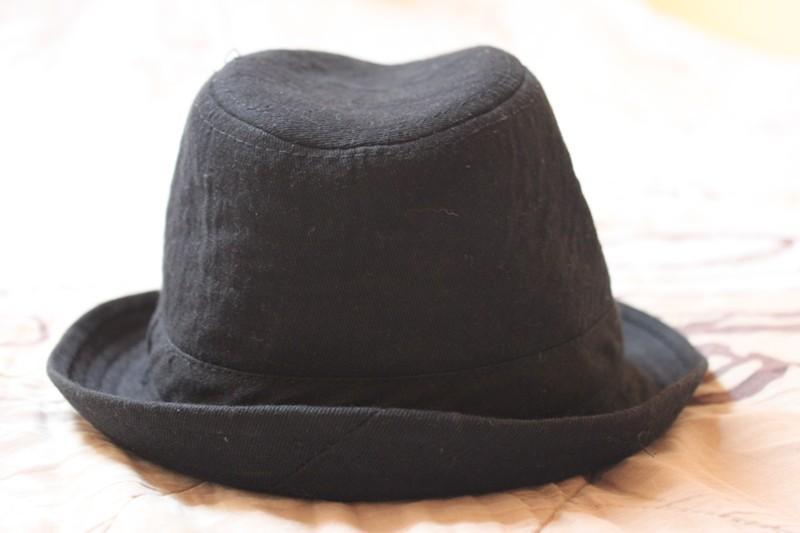kapelusz chłopięcy czarny r.55