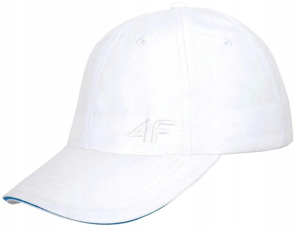 4F Czapka z daszkiem damska biała CAD001-10 S/M