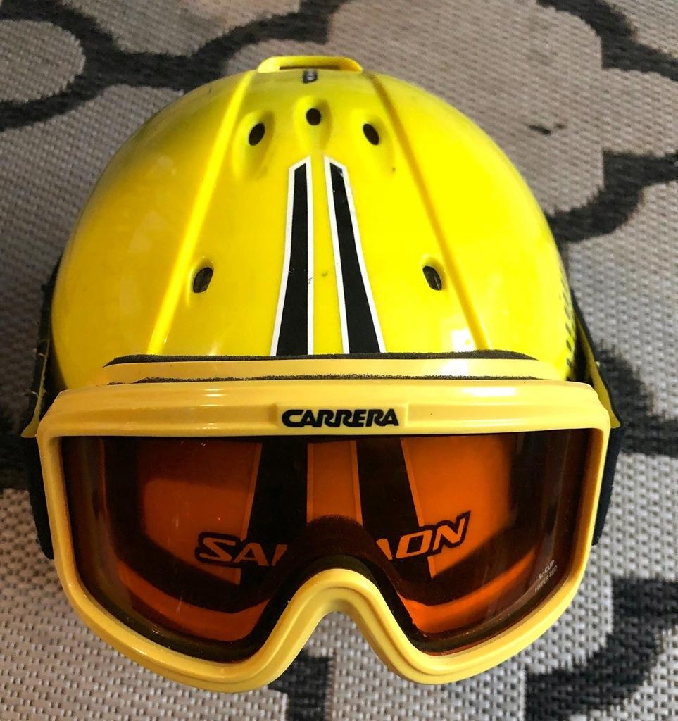 Kask Narciarski Salomon X Wing + gogle Carrera