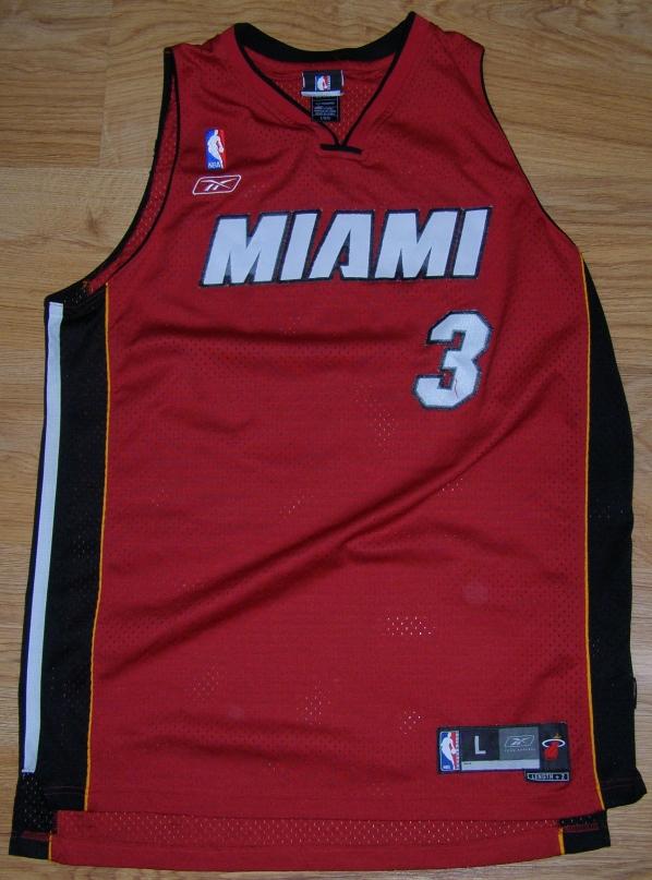 REEBOK MIAMI HEAT KOSZULKA NBA USA #3 WADE Rbk L