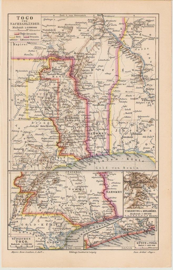 TOGO BENIN GHANA  ROK 1899