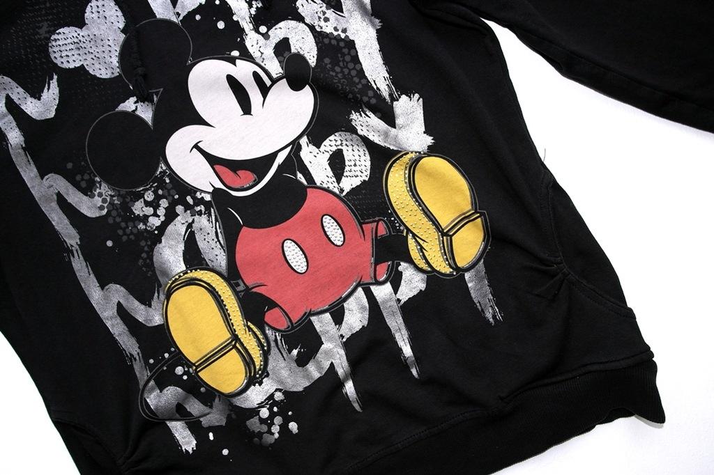 czarna bluza z myszka miki cyrkonie