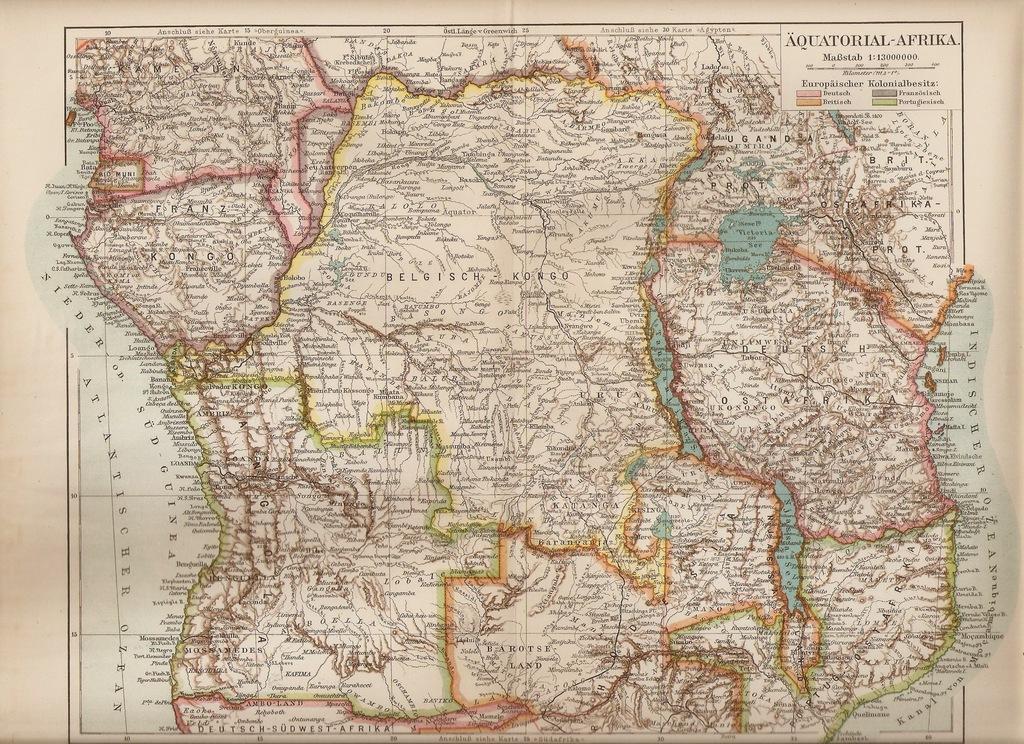 KONGO ANGOLA TANGANIKA UGANDA 1907 ROK