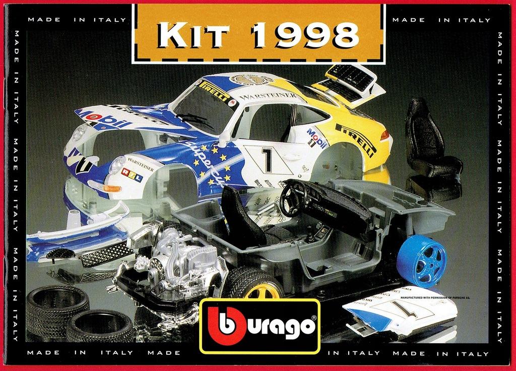 Bburago Katalog Modeli Samochodow 1998 Rok 7396938351 Oficjalne Archiwum Allegro