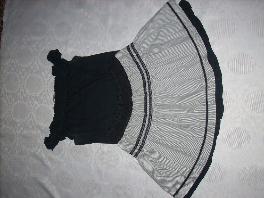 H&M biało czarna spódniczka mini r.3638 7448876792