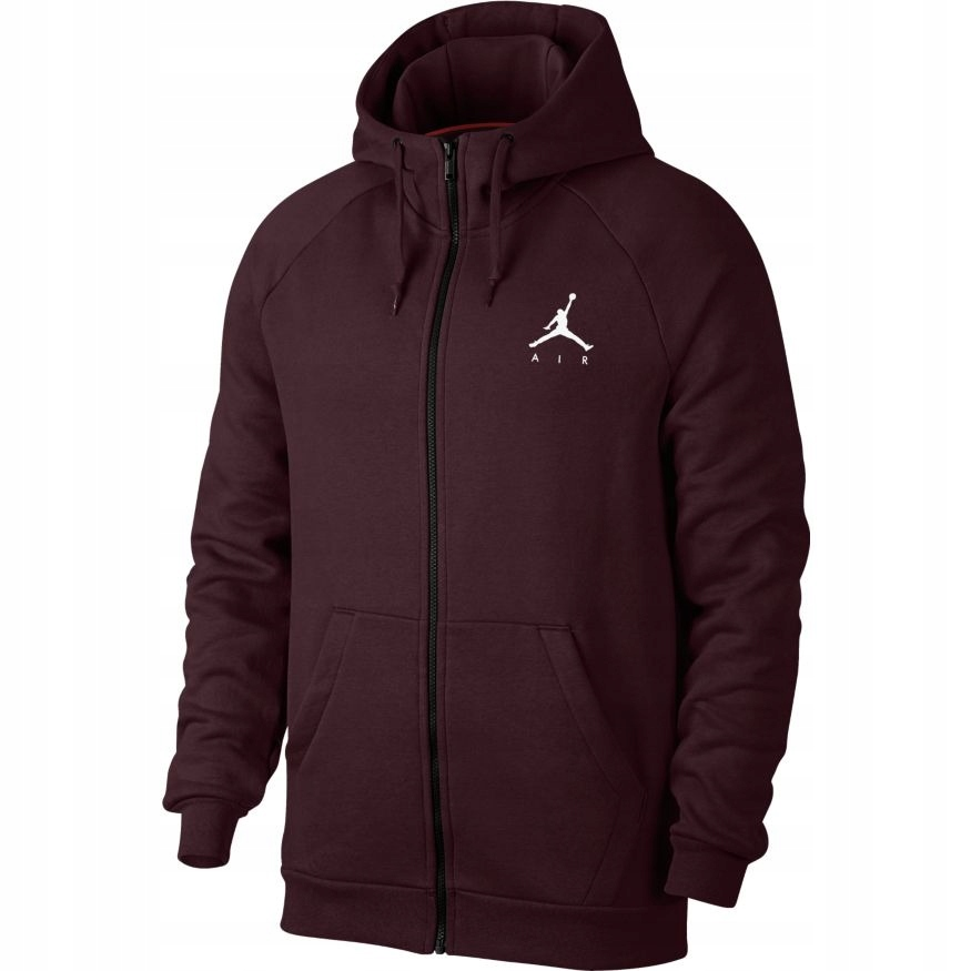 nike air jordan fleece burgundy bluza men