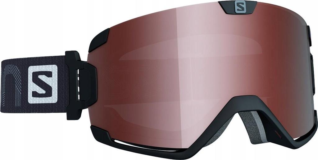 Gogle narciarskie damskie Salomon Sense Black Tonic Orange S2 2020