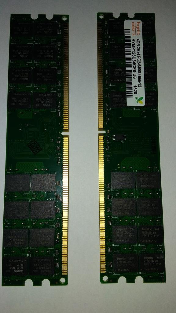 Sprzedam! HYNIX 8GB 800MHZ DDR2 PAMIĘĆ RAM 2x4GB