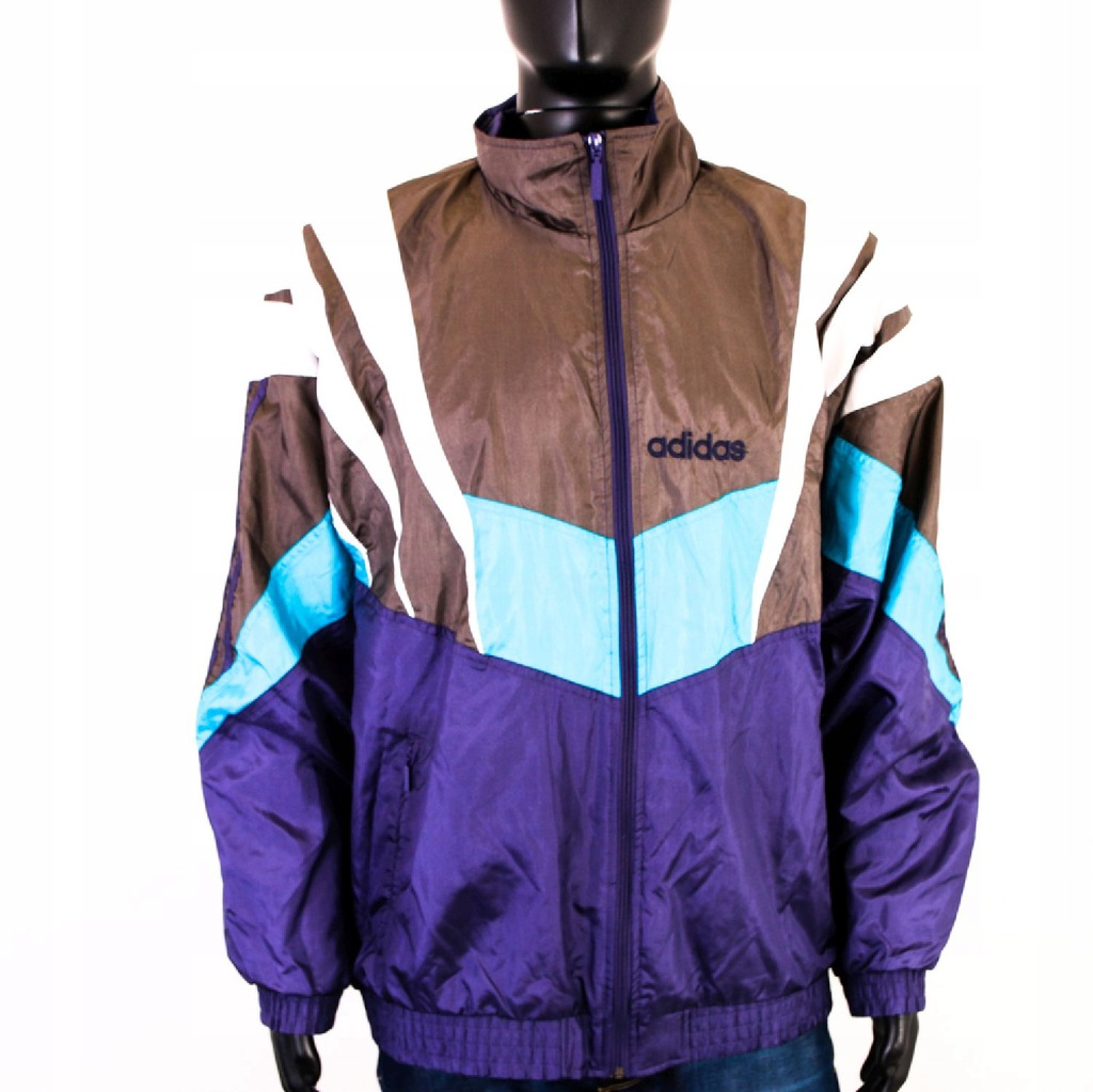 S Adidas Wiatrówka Vintage Komplet Spodnie roz XL