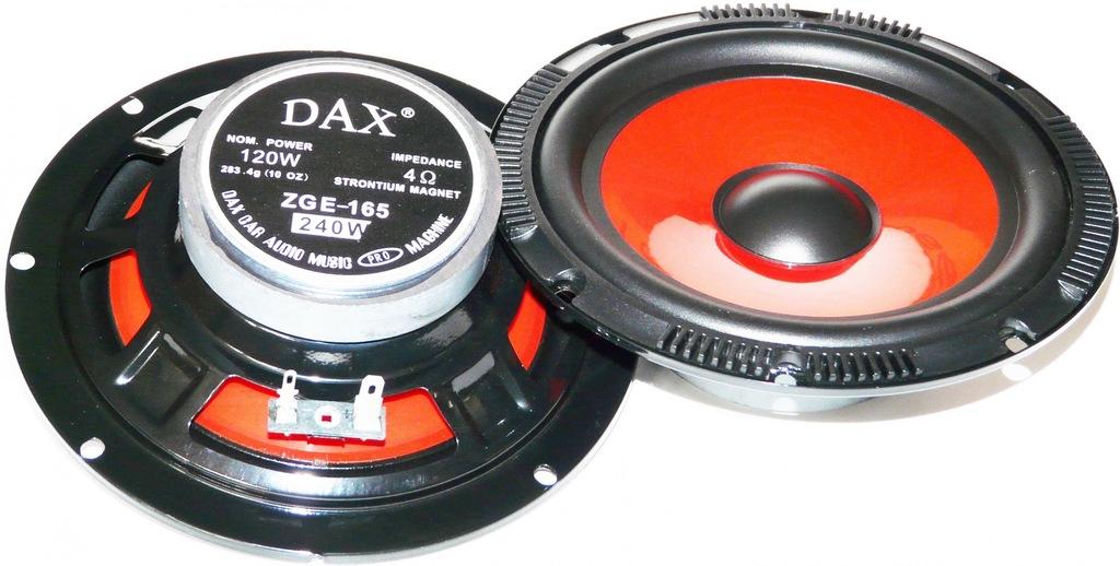 GŁOŚNIKI SAMOCHODOWE DAX ZGE-165 W 165mm 16,5cm
