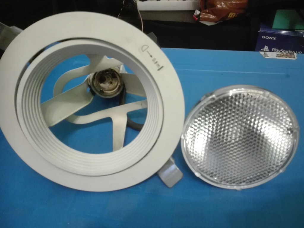 Lampa halogen używana Philips (klosz+żarówka)