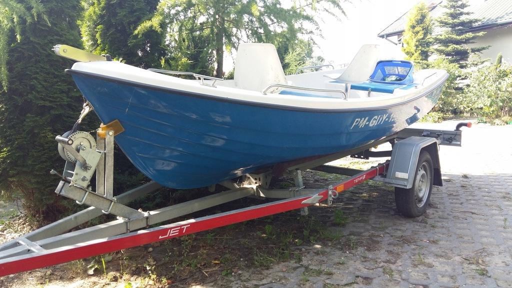 Łódka z przyczepą silnik akumulator zarejestrowana