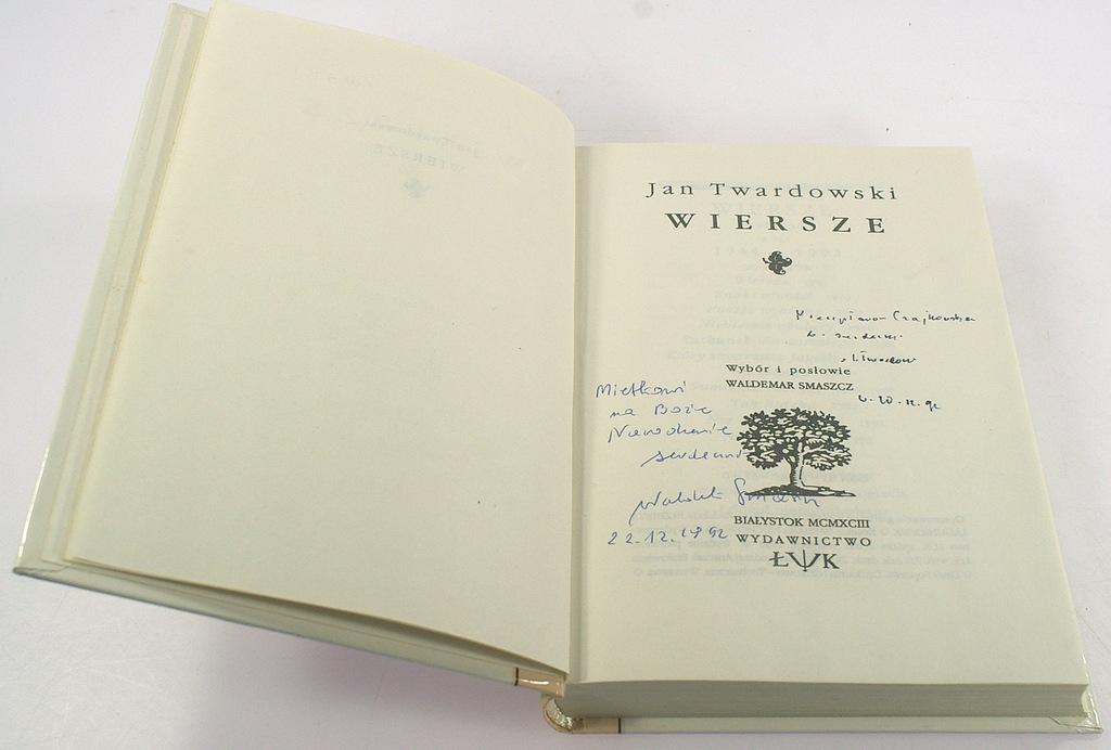 Wiersze Ks Jan Twardowski Autograf Bdb