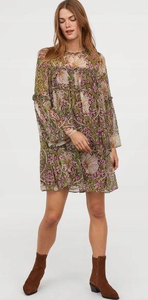 Sukienka H&M WILLIAM MORRIS & CO x H&M