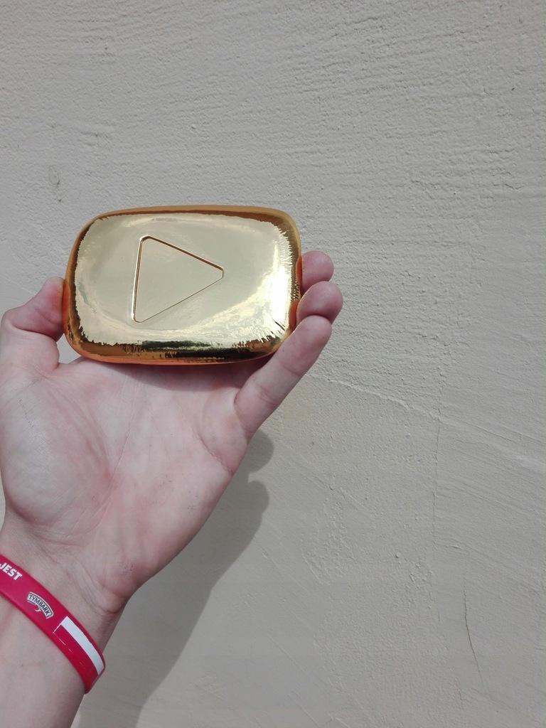 Zloty Przycisk Youtube Bez Ramki 7509842840 Oficjalne Archiwum Allegro