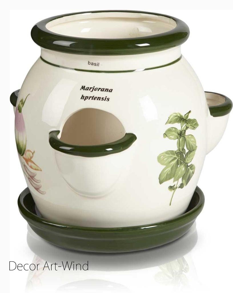 Ceramiczna doniczka na zioła , Decor Art
