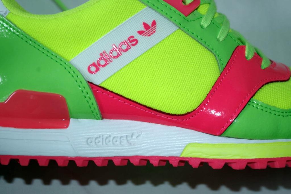 ADIDAS ZX 700 CONTEMP neonowe sneakersy 37 13 LUX