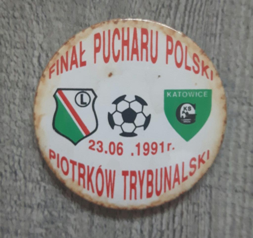 przypinka Puchar Polski finał 1991r.