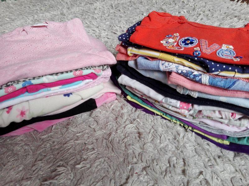 Zestaw paka ubranek dla dziewczynki 68 3-6m