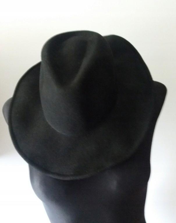 kapelusz z filcu roz m/l H&M