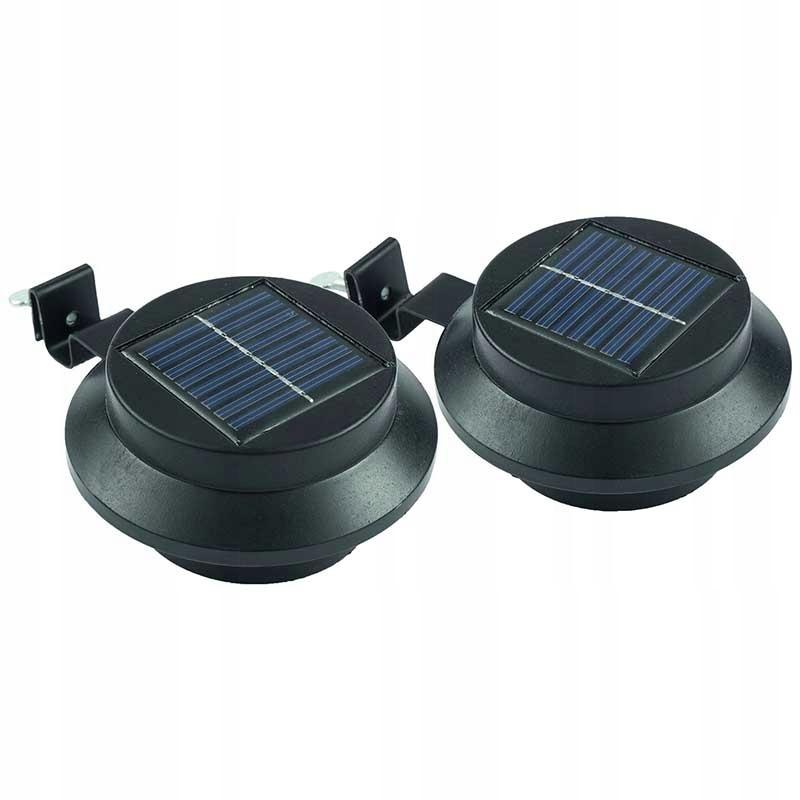 2 SZTUKI LAMPY SOLARNE LED DACHOWE CZARNE