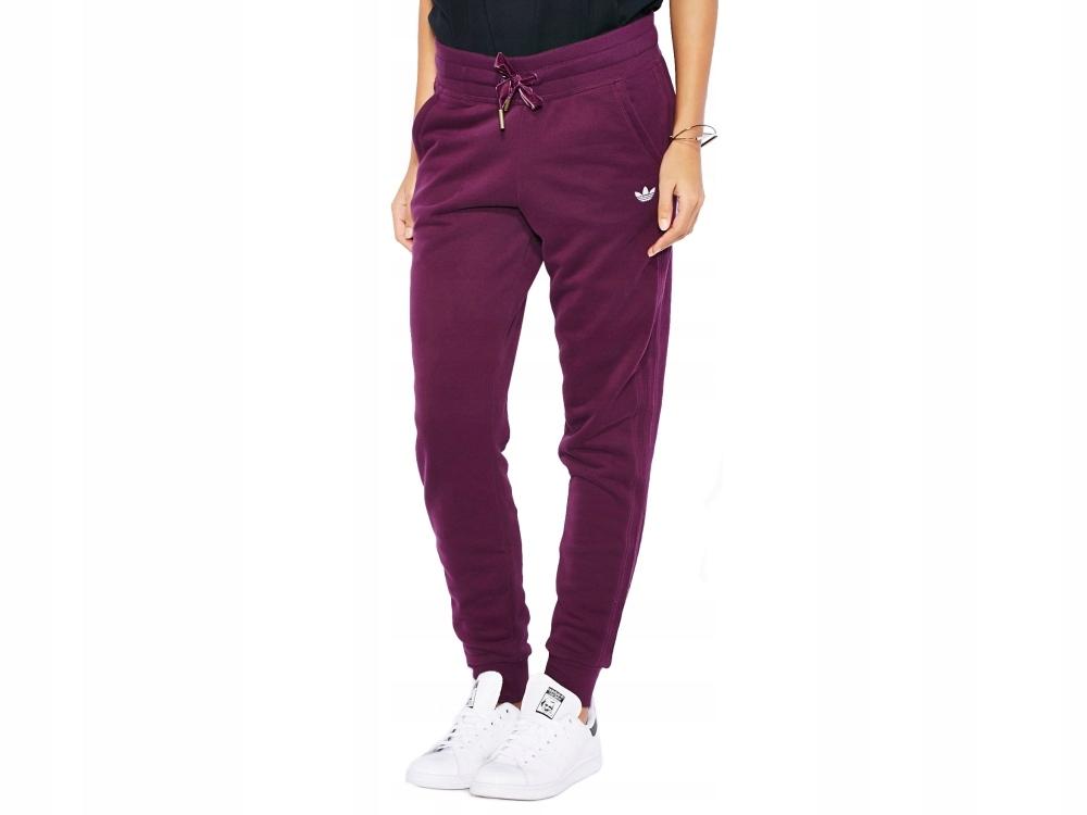BORDOWE DRESY DAMSKIE Adidas Slim Cuffed AB2432