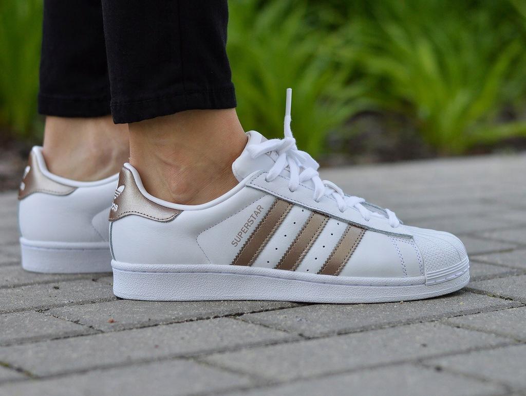 Buty Damskie adidas Superstar W CG5463 (Biały, Złoty