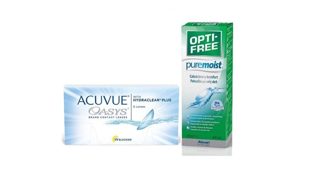 ACUVUE OASYS 6 szt. + OPTI-FREE PureMoist 300ml