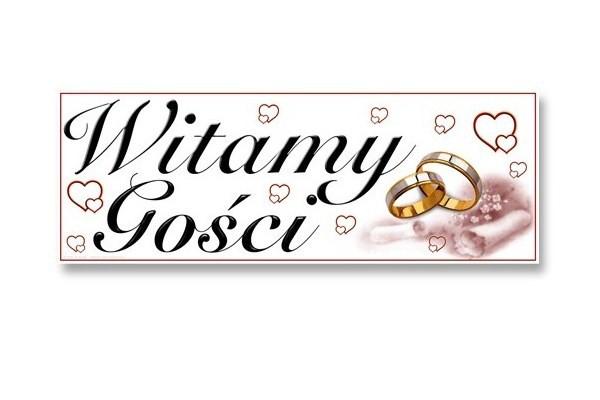 Plakat weselny Witamy Gości, plansza weselna