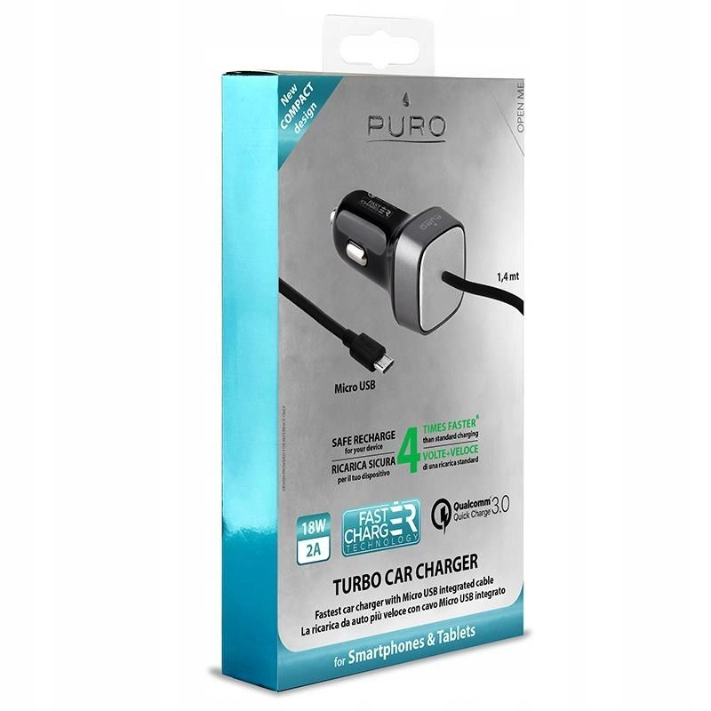 PURO Fast Compact Mini Car Charger Uniwersalna ł