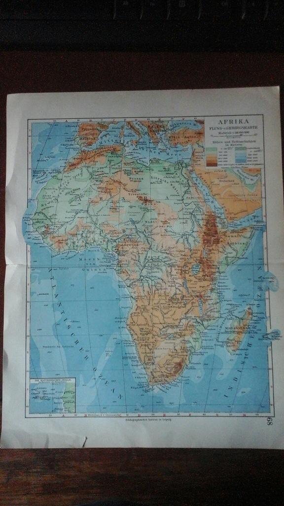 Przedwojenna mapa Afryka niemiecka
