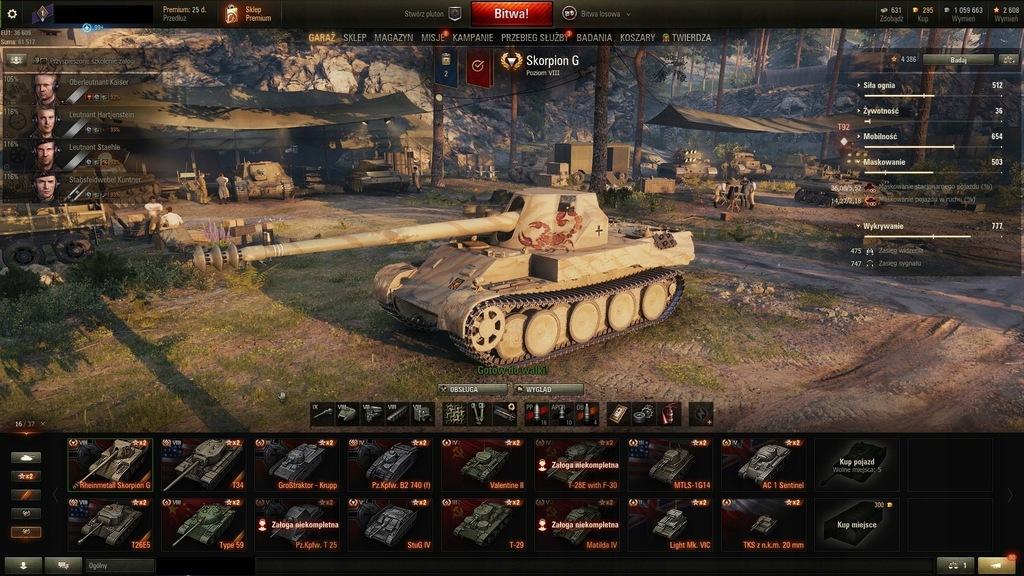 World of Tanks czołgi premium z preferencyjnym matchmakowaniem
