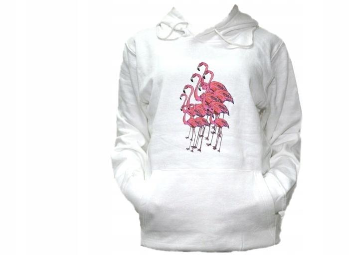 bluza z flamingiem z kapturem