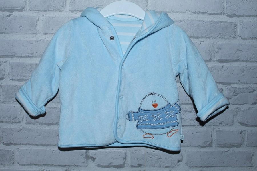 TU niemowlęca grubsza bluza z kapturem r.62-68