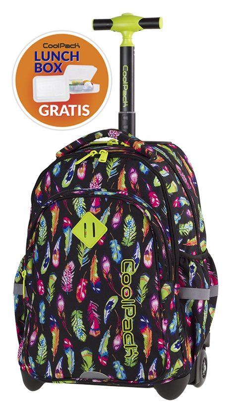 Plecak Coolpack Junior Na Kolkach Kolorowe Piorka 7437861090 Oficjalne Archiwum Allegro